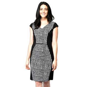 Women's ILE New York Check Sheath Dress