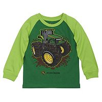 Toddler Boy John Deere Tractor Raglan Tee