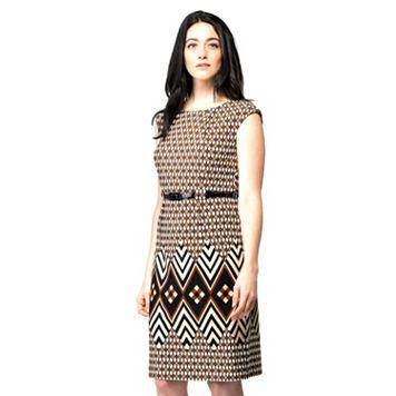 Women's ILE New York Striped Midi Dress