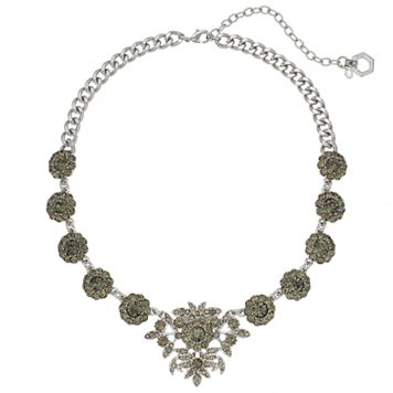 Simply Vera Vera Wang Simulated Crystal Floral Statement Necklace
