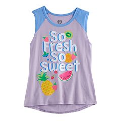 Girls7-16 'So Fresh So Sweet' Fruit Glitter Graphic Tee