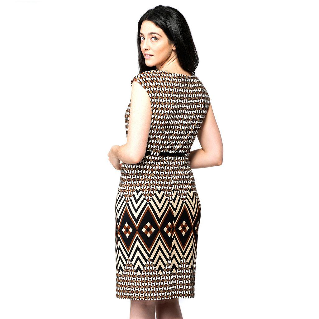 Women's ILE New York Geometric Sheath Dress