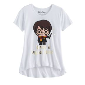 """Girls 7-16 Harry Potter """"You're a Wizard Harry"""" Foil Graphic Tee"""