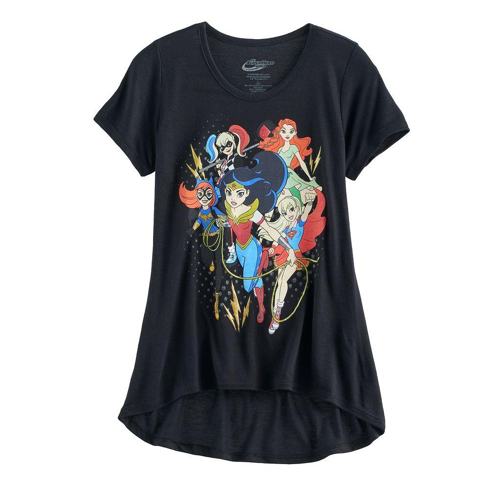 Black t shirts kohls - Girls 7 16 Dc Comics Hero Girls Graphic Tee