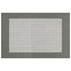 Couristan Recife Checkered Framed Indoor Outdoor Rug