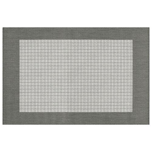 Couristan Recife Checkered Framed Indoor Outdoor Rug