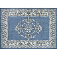 Couristan Recife Antique Framed Floral Indoor Outdoor Rug