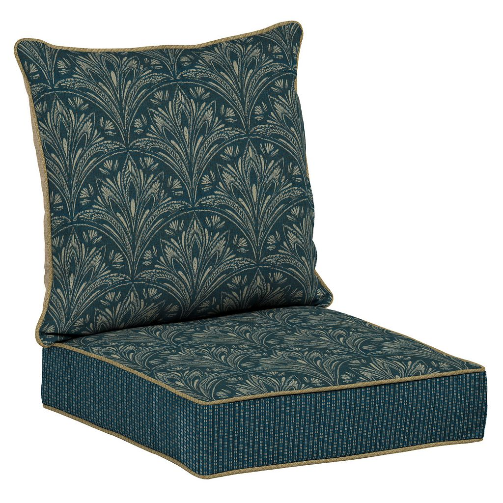Bombay® Outdoors Royal Zanzibar Medallion Snap Dry Reversible Deep Seat Chair Cushion Set