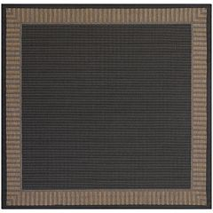 Couristan Recife Wicker Stitch Framed Solid Indoor Outdoor Rug