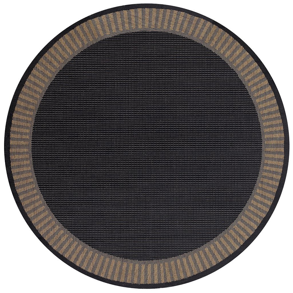 Couristan Recife Wicker Stitch Framed Solid Indoor Outdoor Rug