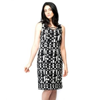 Women's ILE New York Abstract Lace Up Dress