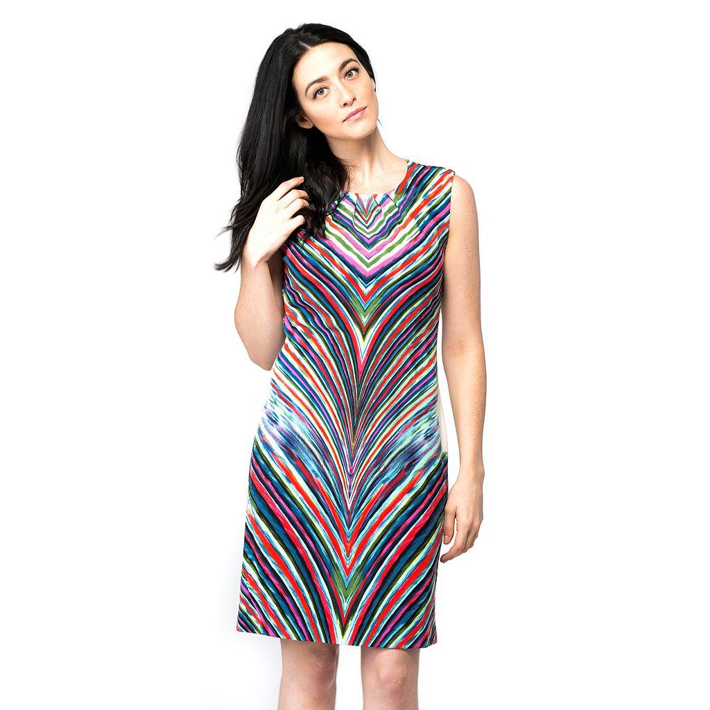 Women's ILE New York Abstract Chevron Sheath Dress