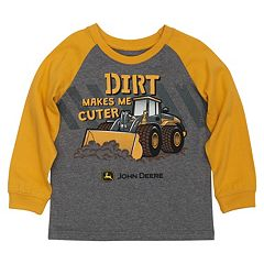 Toddler Boy John Deere 'Dirt Makes Me Cuter' Raglan Tee
