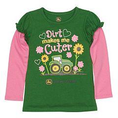 Toddler Girl John Deere Graphic Mock-Layer Tee