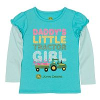 Toddler Girl John Deere Graphic Mock-Layer Tee