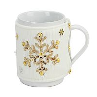 St. Nicholas Square® Sequin Snowflake 2-pc. Mug Cozy Set