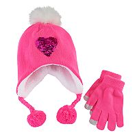 Girls 4-16 Heidi Beanie & Gloves Set