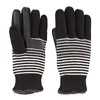Women's Isotoner Striped Knit smarTouch smartDRI Tech Gloves