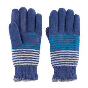 Women's isotoner Striped Knit smarTouch smartDRI Tech Gloves