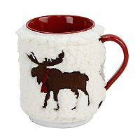 St. Nicholas Square® Sherpa Moose 2-pc. Mug Cozy Set