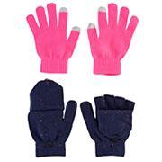 Girls 4-16 2 pkGloves