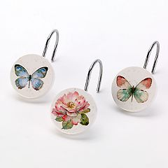 Avanti Butterfly Garden Shower Hooks