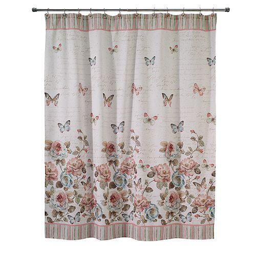 Avanti Butterfly Garden Shower Curtain