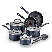 T-Fal Color Luxe 12 pc Nonstick Titanium Cookware Set
