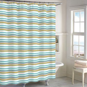 Destinations Sea Stripe Shower Curtain