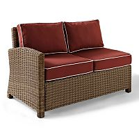 Crosley Outdoor Bradenton Outdoor Wicker Sectional Left Corner Loveseat