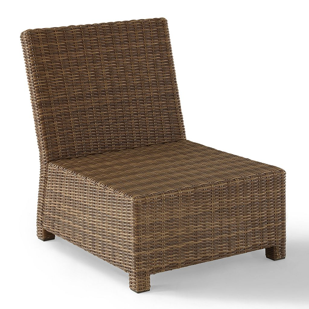 Crosley Outdoor Bradenton Outdoor Wicker Sectional Center Chair
