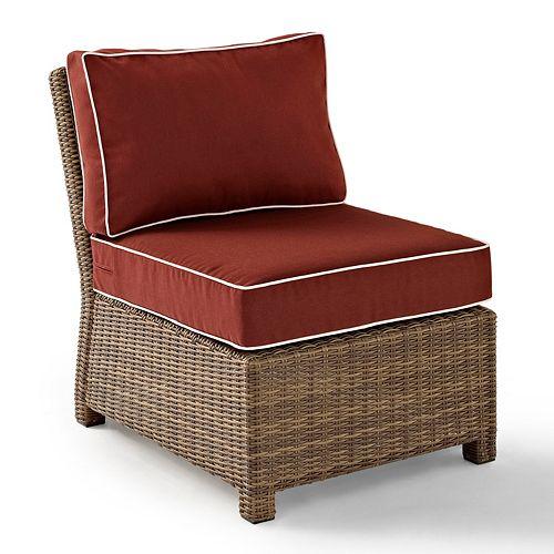 Crosley Outdoor Bradenton Outdoor Wicker Sectional Center Chair