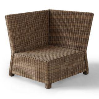 Crosley Outdoor Bradenton Outdoor Wicker Sectional Corner Chair