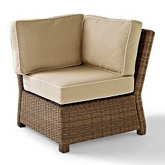 Crosley Outdoor Bradenton Outdoor Wicker Sectional Corner Chair  by
