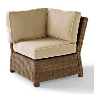 Crosley Outdoor Bradenton Outdoor Wicker Sectional Corner Chair!