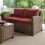 Crosley Outdoor Bradenton Outdoor Wicker Loveseat