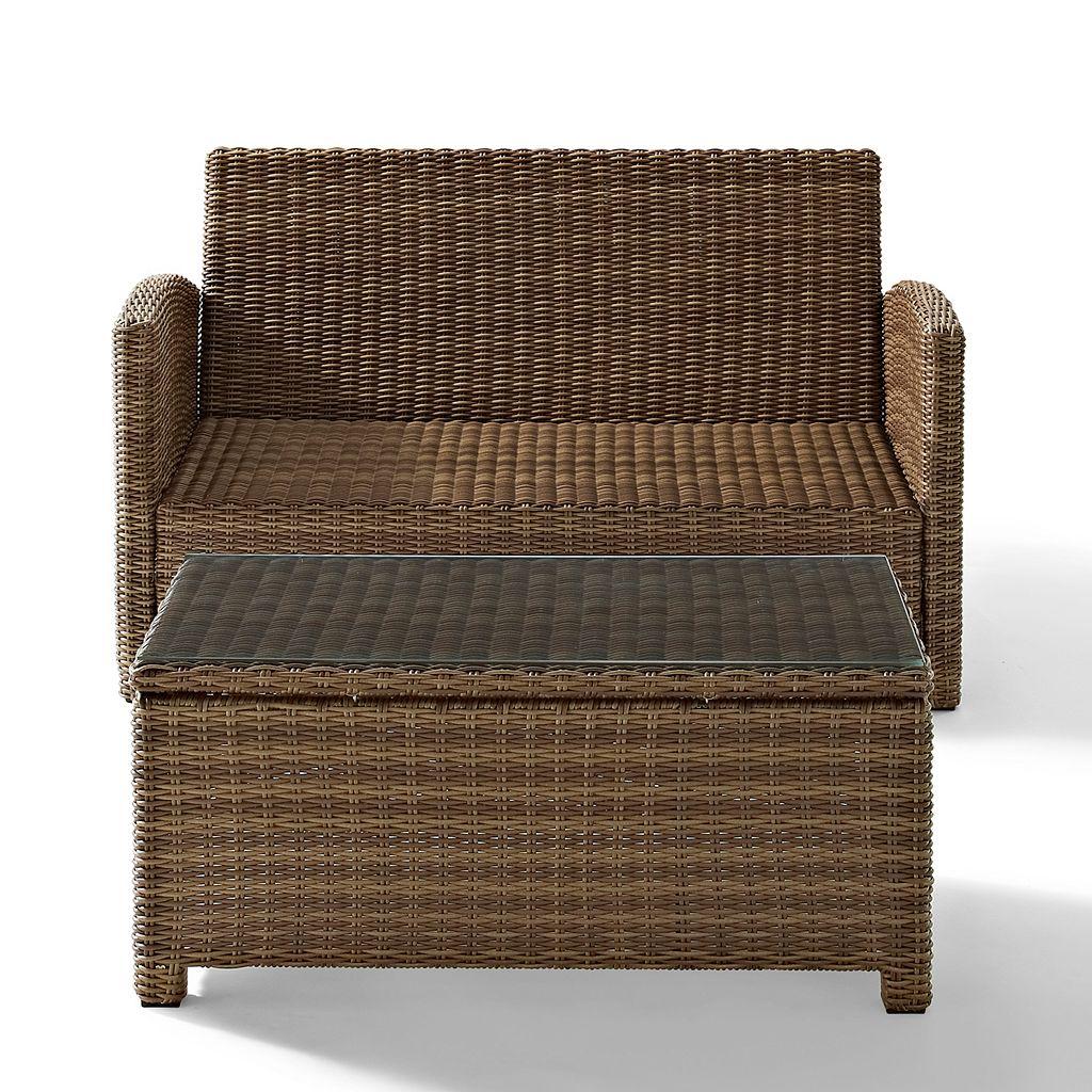 Crosley Outdoor Bradenton 2-pc. Outdoor Wicker Seating & Table Set
