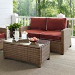 Crosley Outdoor Bradenton 2 pc Outdoor Wicker Seating & Table Set