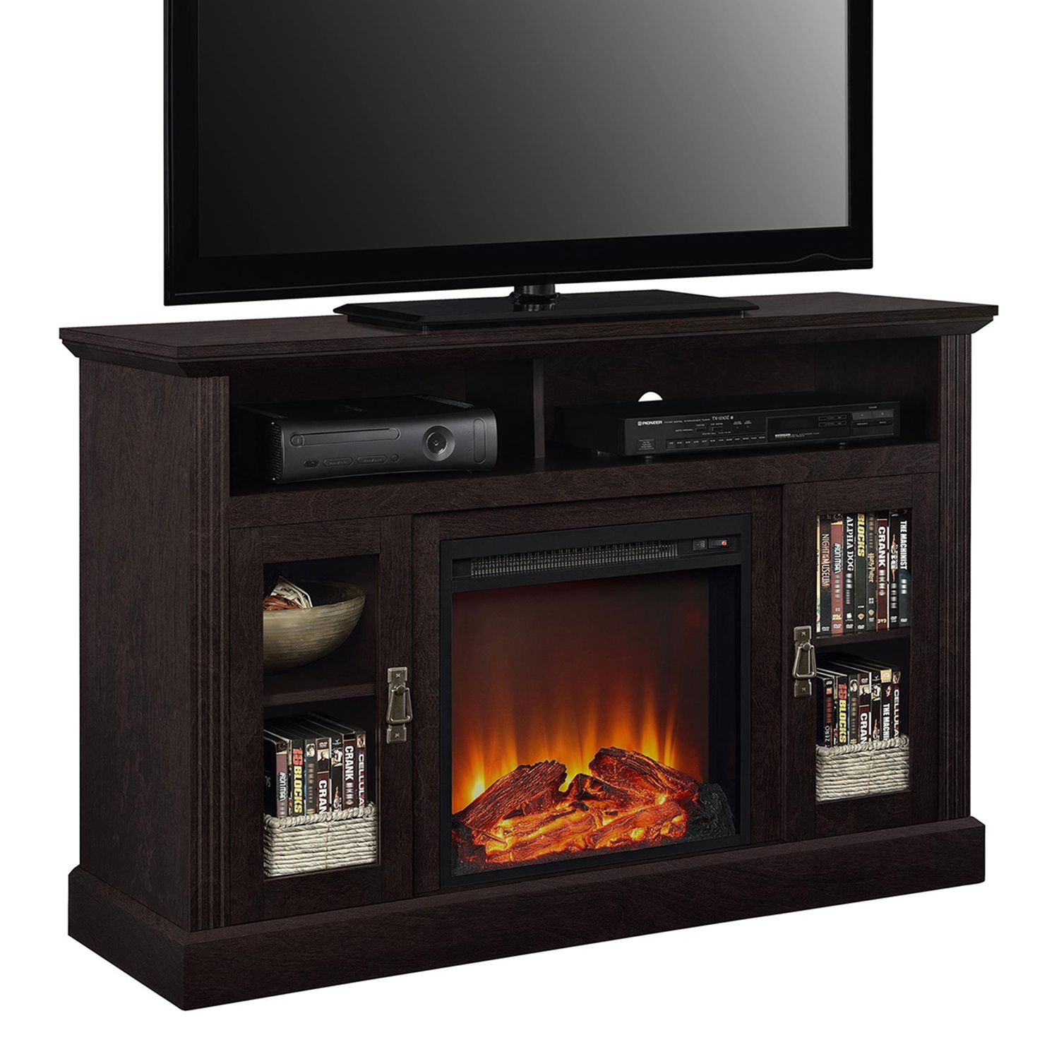 altra chicago electric fireplace tv stand
