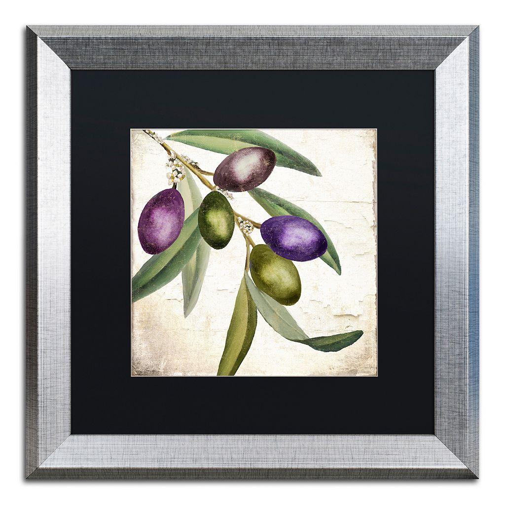 Trademark Fine Art Olive Branch I Framed Wall Art