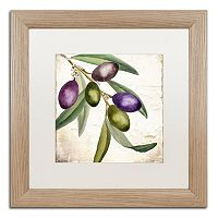 Trademark Fine Art Olive Branch I Distressed Framed Wall Art