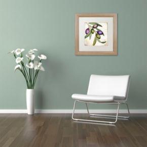 Trademark Fine Art Olive Branch I Distressed Framed Wall Art