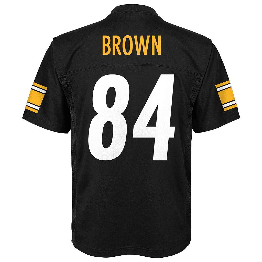 Boys 8-20 Pittsburgh Steelers Antonio Brown Replica Jersey