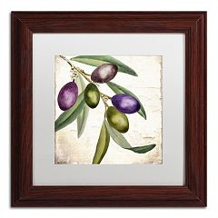 Trademark Fine Art Olive Branch I Traditional Framed Wall Art