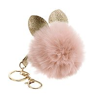 Cat Ears Pom Pom Key Chain