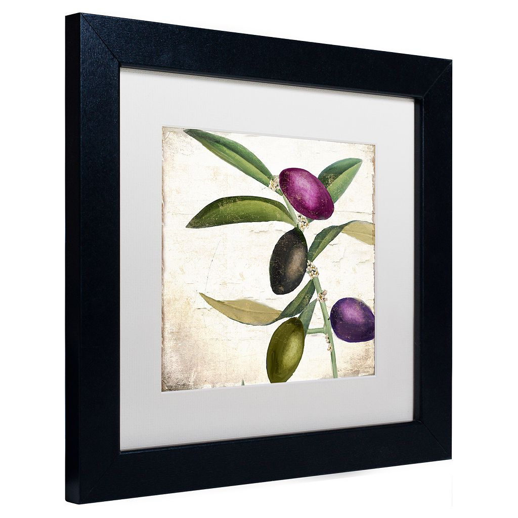 Trademark Fine Art Olive Branch II Black Framed Wall Art