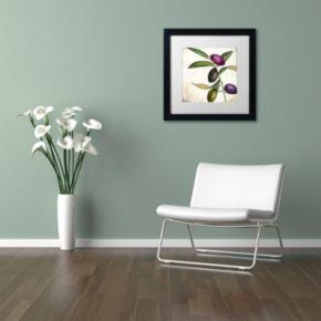 Trademark Fine Art Olive Branch II Black Framed Wall Art