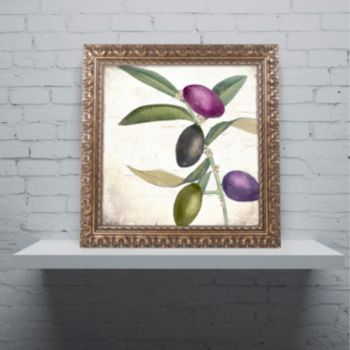Trademark Fine Art Olive Branch II Ornate Framed Art