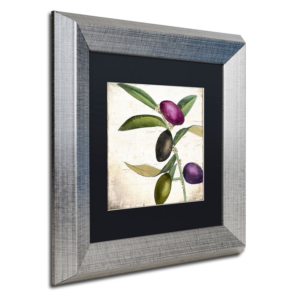 Trademark Fine Art Olive Branch II Framed Wall Art