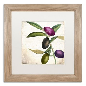 Trademark Fine Art Olive Branch II Distressed Framed Wall Art